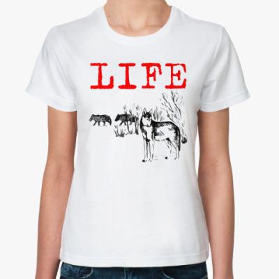 Классическая футболка Волки. Life