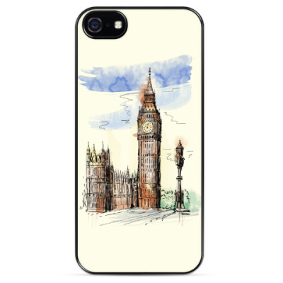 Чехол для iPhone Биг-Бен -Big Ben-Англия-Лондон