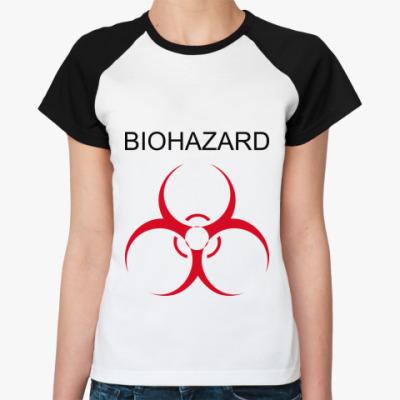 Женская футболка реглан Biohazard