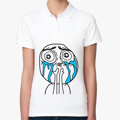 Женская рубашка поло Неимоверное счастье