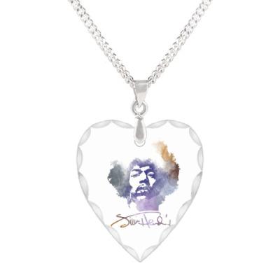 Кулон 'сердце'  Jimi Hendrix - Джими Хендрикс