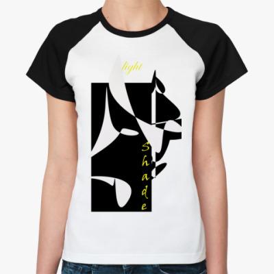 Женская футболка реглан свет и тень