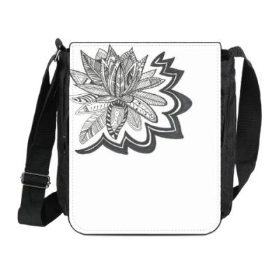 Сумка на плечо (мини-планшет) Черная лилия
