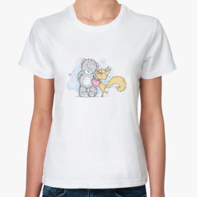 Классическая футболка Миша-Белка-Любовь