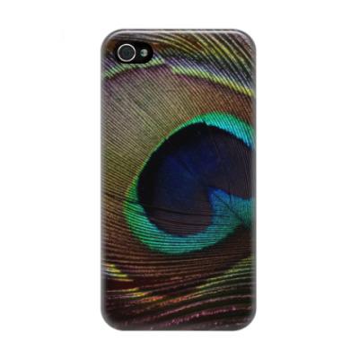 Чехол для iPhone 4/4s Перья птиц