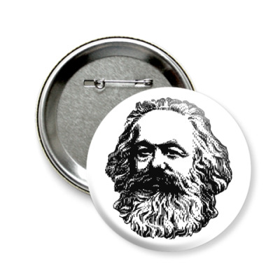 Значок 58мм  58 мм  Карл Маркс