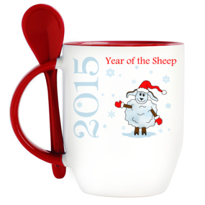 Кружка с ложкой 2015 – Year of the Sheep