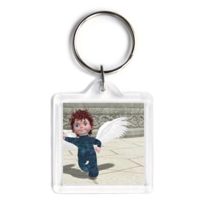 Брелок Веселый ангелочек мальчик в парке
