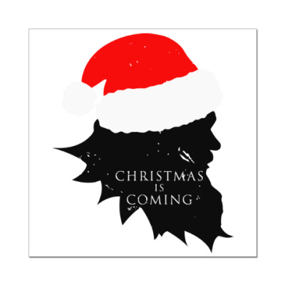 Наклейка (стикер) Christmas is coming