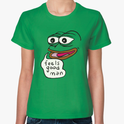 Женская футболка Лягушка Пепе