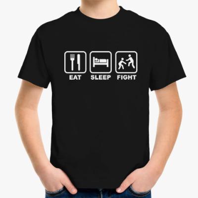 Детская футболка Eat Sleep Fight