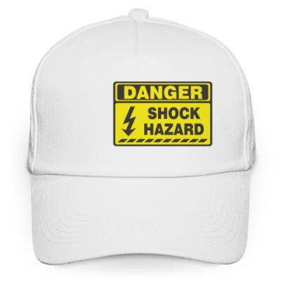 Кепка бейсболка danger shock hazard
