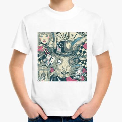 Детская футболка Алиса в стране чудес