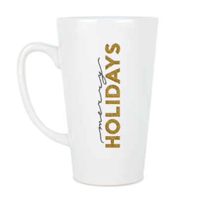 Чашка Латте Merry holidays