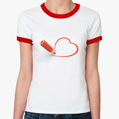 Женская футболка Ringer-T Карандаш