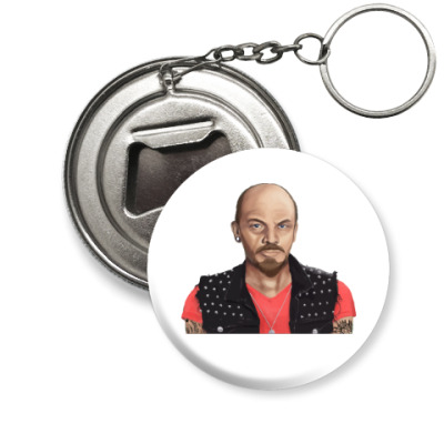 Брелок-открывашка Ленин хиппи