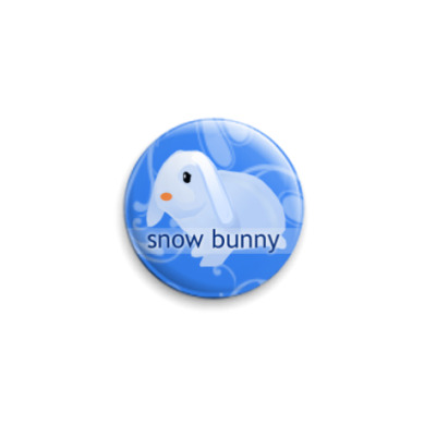 Значок 25мм Snow Bunny