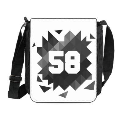 Сумка на плечо (мини-планшет) Цифра 58 (Low Poly)