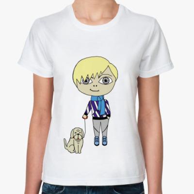Классическая футболка Cool boy dog