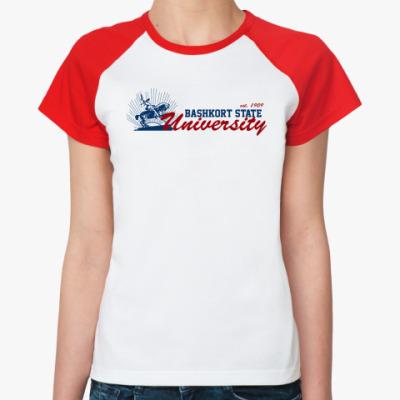 Женская футболка реглан БГУ