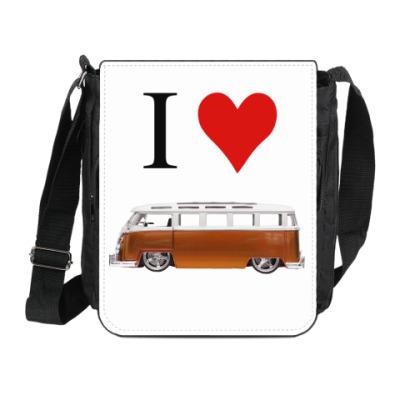 Сумка на плечо (мини-планшет) I Love Bus