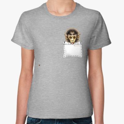 Женская футболка Мартышонок