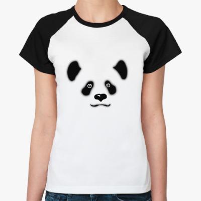 Женская футболка реглан Панда