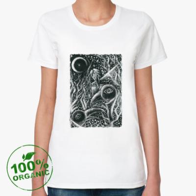 Женская футболка из органик-хлопка Вороны и одиночество