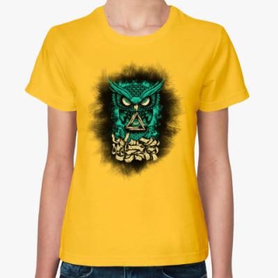 Женская футболка Сова (Owl) - всевидящее око