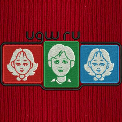 Вышивла лого UGW на шапке
