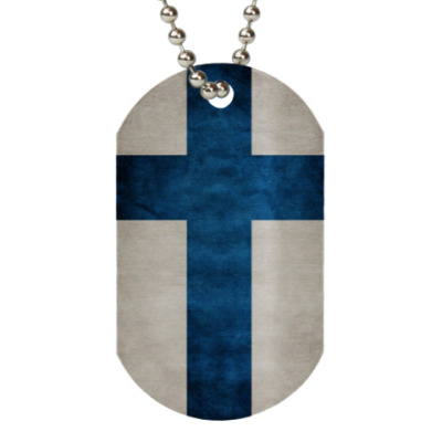 Жетон dog-tag Финский флаг