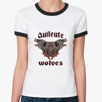 Женская футболка Ringer-T Quileute wolves