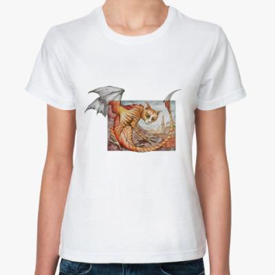 Классическая футболка Кошачий дракон