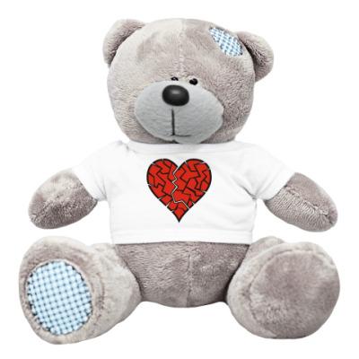 Плюшевый мишка Тедди Разбитое сердце