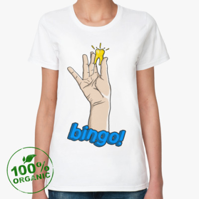 Женская футболка из органик-хлопка Bingo!  Зуб