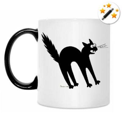 Кружка-хамелеон Чёрный кот