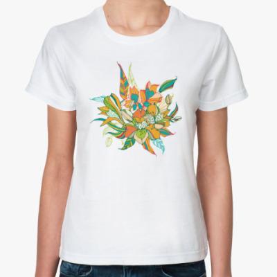 Классическая футболка Букет лилий