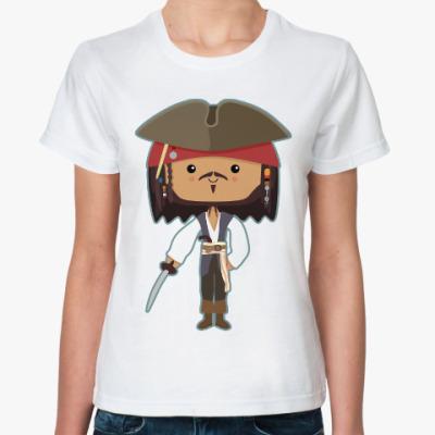 Классическая футболка Джек Воробей