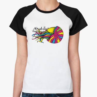 Женская футболка реглан Nautilus Pompilius