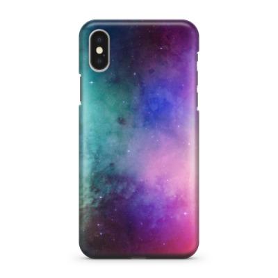 Чехол для iPhone X Космос и звезды