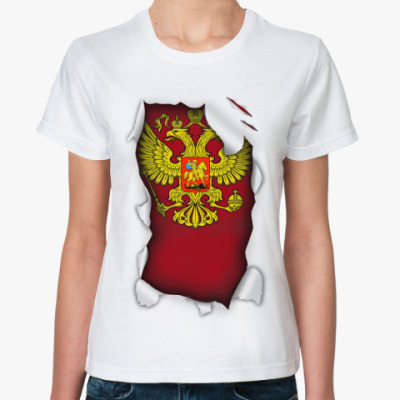Классическая футболка Герб России