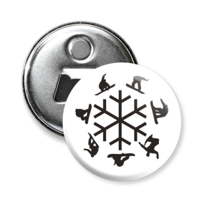 Магнит-открывашка snowboard