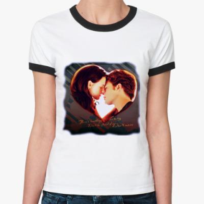 Женская футболка Ringer-T двухсторонняя футболка