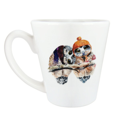 Чашка Латте Cute owls Милые совы
