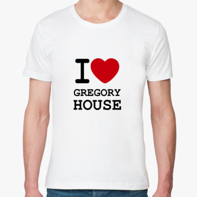 Футболка из органик-хлопка   I Love House