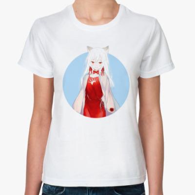 Классическая футболка Неко аниме