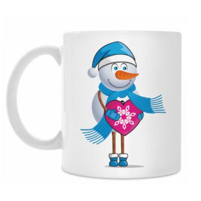 Кружка Парные. Снеговик. Любовь. Зима