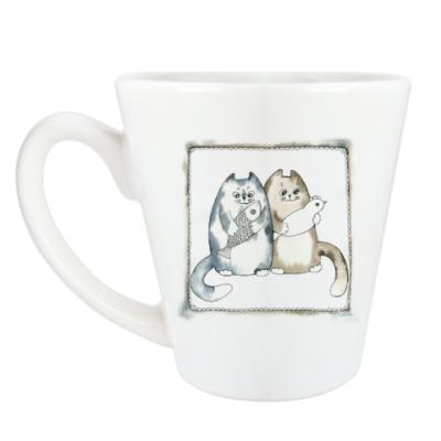 Чашка Латте Благополучные коты