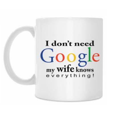 Кружка I don't need Google