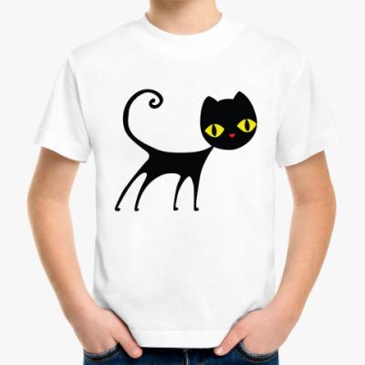 Детская футболка Черный кот